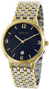 Stuhrling Original Men's 603.32226 Classic Ascot Marquis Gentry Swiss Quartz Ultra Thin Date Two Tone Bracelet Watch