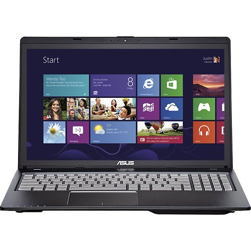 ASUS Q500A-BHI7T05 15.6 Touch Screen Laptop 8GB Memory 750GB HD - Black