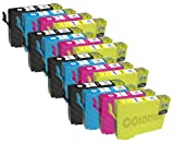 16 Moreinks Premium Compatible Printer Ink Cartridges to Replace Epson T1295 T1291 T1292 T1293 T1294 - Cyan / Magenta / Yellow / Black