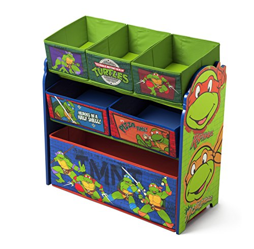 Delta Children Multi-Bin Toy Organizer, Nickelodeon Ninja Turtles (Ninja Turtles Bed compare prices)