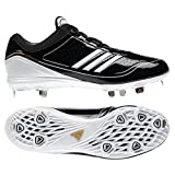 Adidas G24748 adiZero Diamond King Low Adult Baseball Cleats Black/White