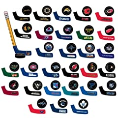 NHL TABLE HOCKEY - SET OF 30 PUCK AND BLADE COLLECTIBLES, ALL 30 TEAMS (1.75 X 1... by NHL