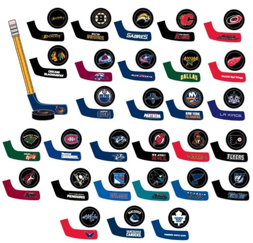 Buy NHL TABLE HOCKEY - SET OF 30 PUCK AND BLADE COLLECTIBLES, ALL 30 TEAMS (1.75 X 1... by NHL