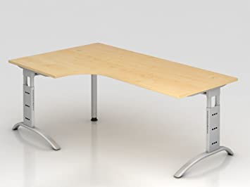 Supporto tavolo C 200x 120cm, gomito 90°, acero