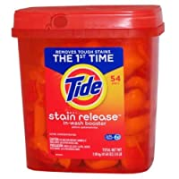 Tide Stain Release In-Wash Booster, Ultra Concentrated, 54 Packs