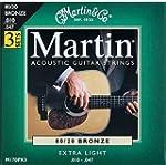 Martin Lot de 3 jeux de 6 cordes pour...
