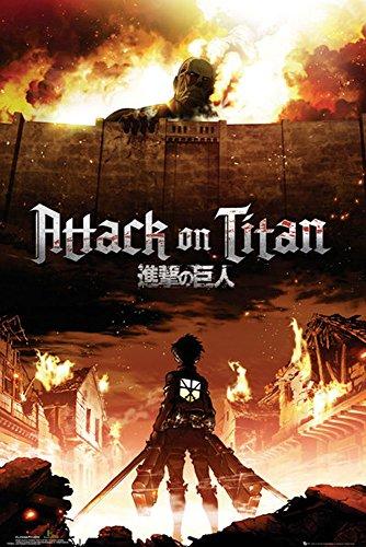 """Empire, Poster di """"Attack on Titan"""", Multicolore (Bunt), 61 x 91,5 cm"""