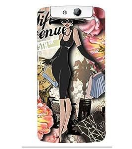 Printvisa Rich Black Girl Pattern Back Case Cover for Oppo N1