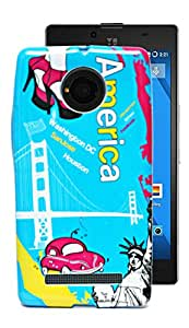 ECellStreet Exclusive Printed Soft Back Case Cover Back Cover For Micromax Yu Yunique - America