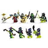 Lego Ninjago Set Of 9 Minifigures (Lloyd, Nya, Cole, Battle Wu, Morro, Blade Master Bansha, Bow Master Soul Archer...