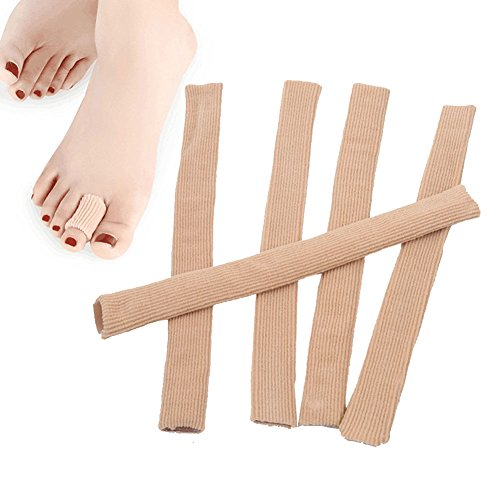5 Pcs Silicone Stretched Cuttable Toe Tube Moisturizing Protector for Finger Toe Bunion Corn Callus (Small Size) (Silicone Finger Sleeve Protection compare prices)