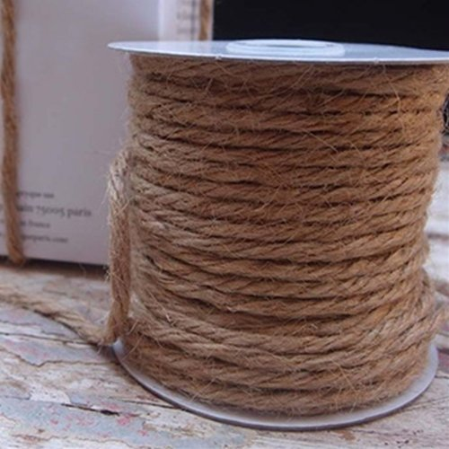 Jute Rope Twine 3.5mm x 25 Yards, String, Rustic BURLAP by LSD