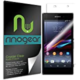 [SKIN] RinoGear® Sony Xperia Z1 Screen Protector Anti-Scratch, Anti-Fingerprint, Anti-Bubble, Ultra Invisible HD Clear Shield w/ Lifetime Replacements