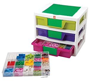 Iris Usa, Inc. IRIS LEGO Friends 3-Drawer Sorting System with Large Building Base Plate and 4 Removable Divider Trays at Sears.com