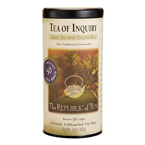 The Republic Of Tea, Tea Of Inquiry Green Tea, 50 Tea Bag Tin (Flavor Of Green Tea Over Rice compare prices)