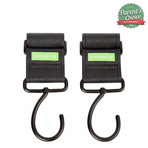 buy Stroller Hooks, Metal, 360 Degree Rotation By Ethan & Emma (2 Hooks Per Pack) for sale