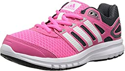 adidas Kids Girl\'s Duramo 6 (Little Kid/Big Kid) Solar Pink/Core White/Dark Onix Sneaker 7 Big Kid M