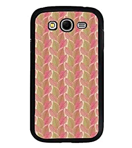 Fuson Premium 2D Back Case Cover Pink leaves pattern With Yellow Background Degined For Samsung Galaxy Grand Neo::Samsung Galaxy Grand Neo i9060