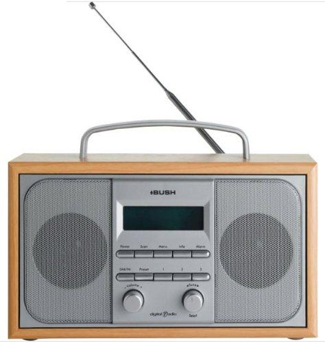 bush-dab-fm-stereo-radio-in-a-wooden-cabinet