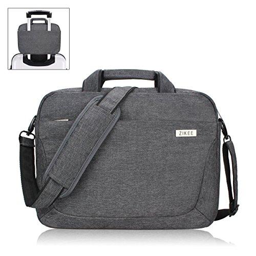 Zikee Laptop Sleeve Messenger Shoulder Bag 15 15 3 15 6 Inch Water Resistant Oxford Fabric
