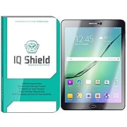 IQ Shield Tempered Glass - Samsung Galaxy Tab S2 8.0 Glass Screen Protector (Ballistic Glass + Warranty Replacements) - 99.9% Transparent HD Shield / 9H Hardness / Shatter-Proof + Bubble-Free