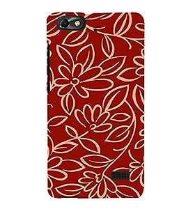 EPICCASE Flower outlines Mobile Back Case Cover For Xiaomi Redmi Mi4i (Designer Case)