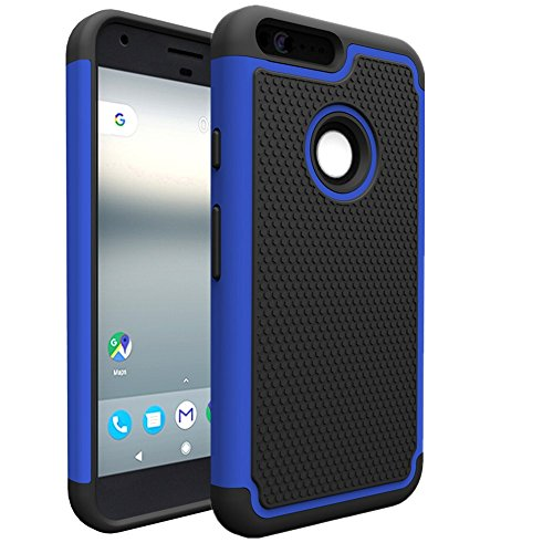Google Pixel Case, Asstar Dual Layer Hybrid Defender Protective Shock Absorption Impact Resist Rugged Shell Armor Defender Rubber Protective Case Cover for Google Pixel (Blue) (25 Steam Wallet Card compare prices)