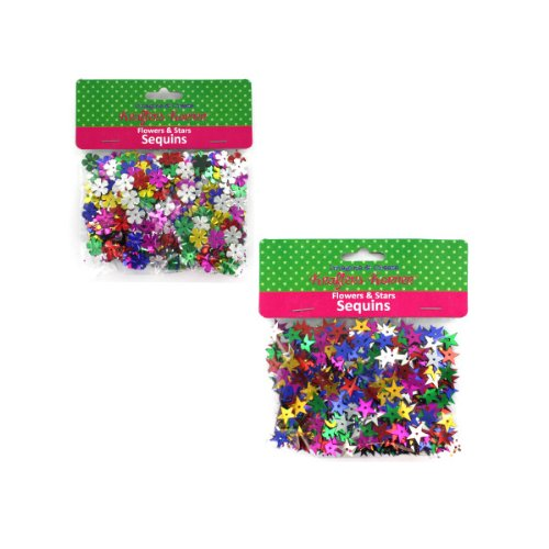 Flower And Star Sequins Assorted Colors (assort May Vary)
