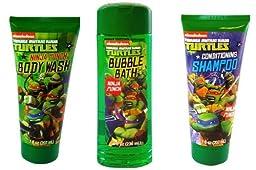 TMNT Ninja Turtle Body Wash + Bubble Bath + Shampoo (set of 3)