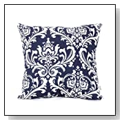 Navy and White French Quarter Pillow Large