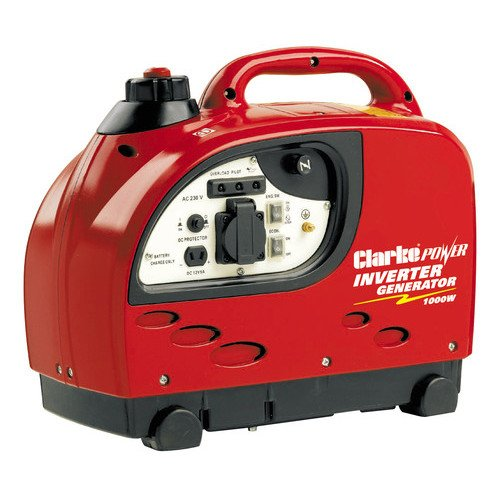 Clarke IG1000 1kw Low Noise Inverter Generator Sine Wave Technology 8877050