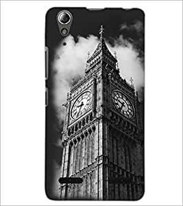 PrintDhaba Clock Tower D-2432 Back Case Cover for LENOVO A6000 PLUS (Multi-Coloured)
