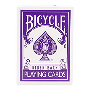 Bicycle Rider Back The Purple Deck with Gaff Cards for Magic