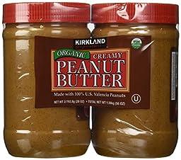 Organic Creamy Peanut Butter 2 - 28oz Jars