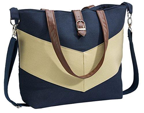 Urban Mom, Stylish Diaper Bag, Tote Style, Chevron Stripe Image