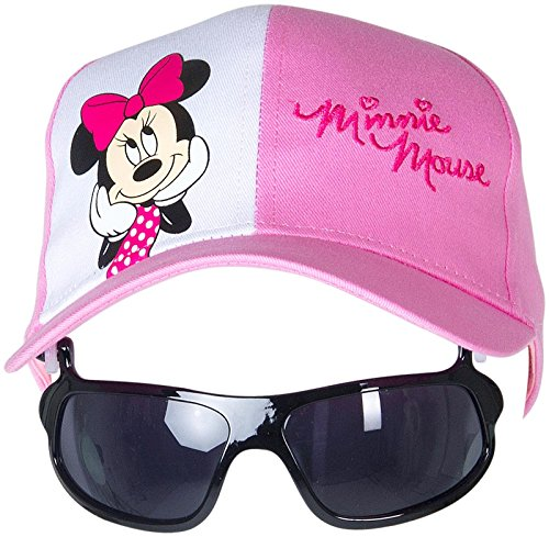 Disney Baby Girls' Pink Minnie Hat with Sunglasses - Pink - One Size