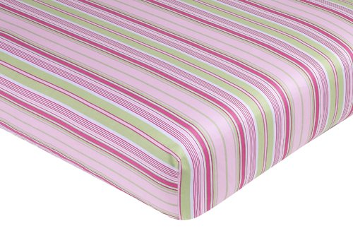Jungle Friends Fitted Crib Sheet For Baby/Toddler Bedding Sets By Sweet Jojo Designs - Stripe Print front-704429