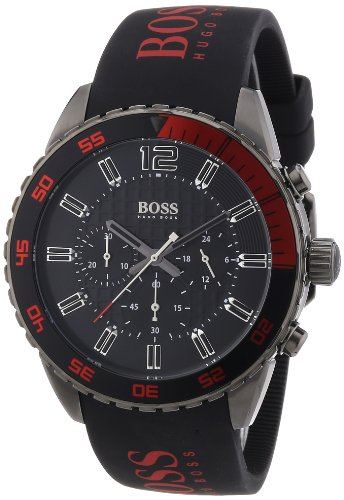 Hugo Boss 1512901 - Reloj cronógrafo de cuarzo para hombre con correa de silicona, color negro