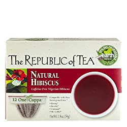 The Republic Of Tea Natural Hibiscus Tea Single Serve For Keurig Brewers - 24 Count by The Republic Of Tea