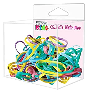PANACHE KIDS Elle Hair Ties Combo - Elle Hair Ties Small (275 pcs.), Elle Hair Ties Big (200 pcs) -Girls Neon Coloured Rubber Bands, for Quick Ponytail