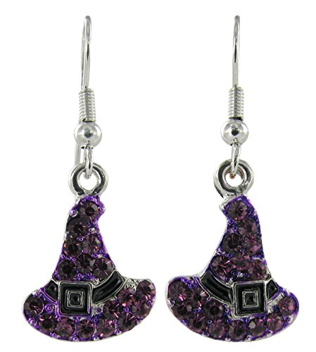 Witch's Hats Rhinestone Earrings