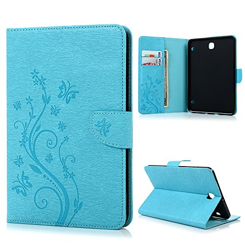 samsung-galaxy-tab-s2-sm-t710-sm-t715-80-inch-wallet-case-butterflies-fly-around-flowers-print-paint