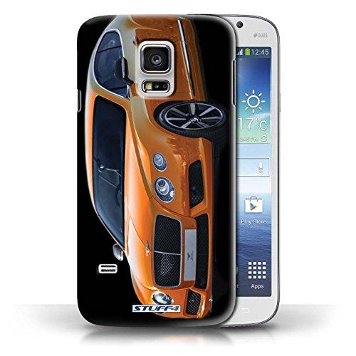 Custodia/Cover Rigide/Prottetiva STUFF4 stampata con il disegno Bentley per Samsung Galaxy S5 Mini - Continental/Arancione