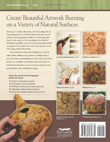 Art Craft of Pyrography The Drawing with Fire on Leather Gourds Cloth Paper and Wood