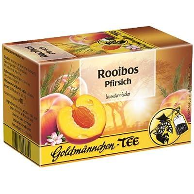 Goldmännchen Tee Rooibos-Pfirsich, Kräutertee, Früchtetee, 20 einzeln versiegelte Teebeutel