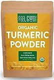 Organic Turmeric Powder - 32oz Resealable Bag (2lbs) - 100% Raw w/ Curcumin From India - by Feel Good Organics