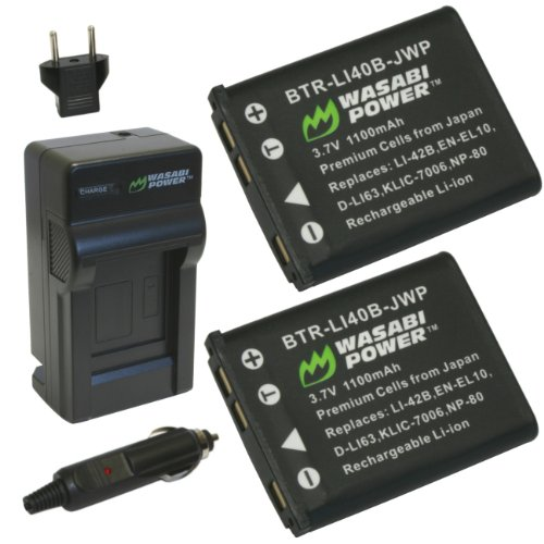 Wasabi Power Battery and Charger Kit for Fujifilm NP-45, NP-45A and Fuji FinePix J10, J12, J15, J15fd, J20, J25, J26, J27, J30, J35, J38, J40, J100, J110W, J120, J150W, J210, J250, JV100, JV105, JV150, JV155, JV160, JV200, JV205, JV250, JV255, JX200, JX205, JX250, JX255, JX280, JX300, JX305, JX350, JX355, JX360, JX370, JX375, JX380, JX400, JX405, JX420, JX500, JX520, JX530, JX540, JX550, JX580, JX590, JX700, JX710, JZ100, JZ110, JZ200, JZ250, JZ260, JZ300, JZ305, JZ310, JZ500, JZ505