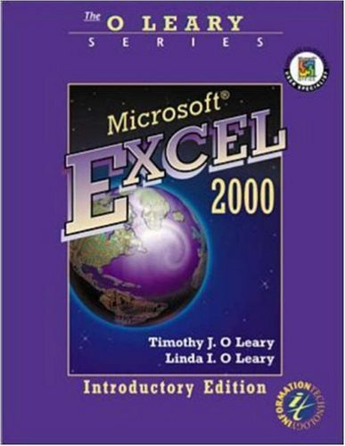 O'Leary Series:  Microsoft Excel 2000 Introductory Edition