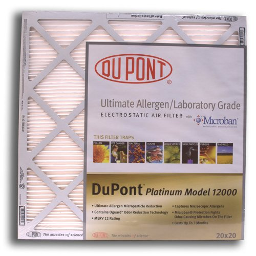 16x16x1 DuPont Platinum Model Electrostatic Air Filter (Case of 12)