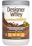 Designer Whey Sustained Energy - Premium Protein Powder with Soy, Chocolate Velvet, 1.5 Pound